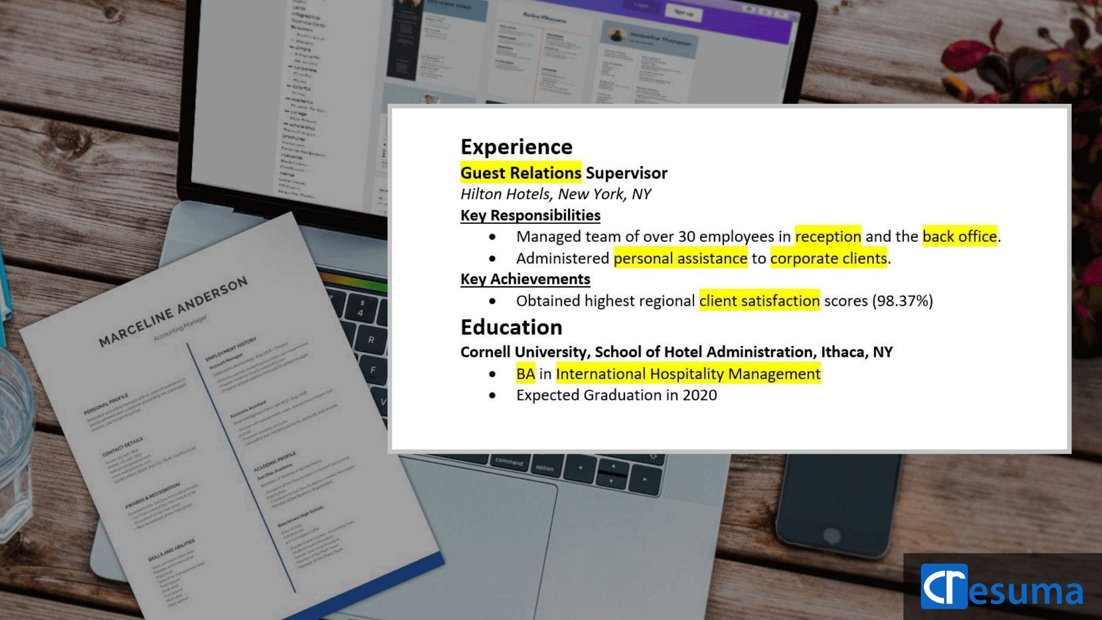how to write a perfect resume- keywords